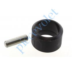 510F993 Goupille Cylindrique Inox & Bague de Blocage Marron pour Tube ø Ext 13 mm