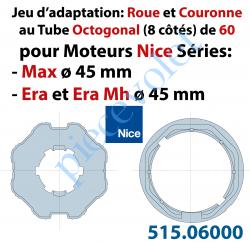 515.06000 Jeu d'Adaptation pour Moteur Era ou Max M 50 au Tube Octo 60 en 6 à 10/10ème