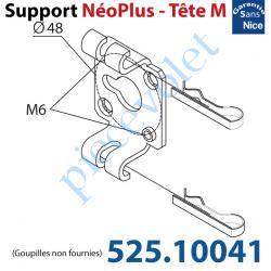 525.10041 Support Nice Néoplus Tête M Métallique 2 Trous M6 entr'axes 48 mm