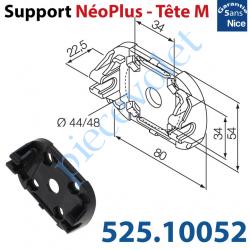 525.10052 Support Nice Néoplus Tête M Clipée Plast entr'axes Têtes Hexa 44 & 48mm Couple Maxi 30Nm