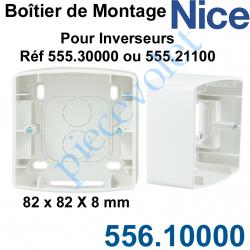 556.10000 Boîtier de Montage 82x82 en Saillie de 40 mm Coloris Blanc pour Inverseurs Nice