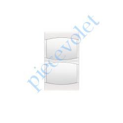 69820 Cadre Blanc Lumière pour Fixation Mécanisme Arnould Initia (2 Postes Horizontaux)