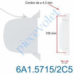 6A1.5715/2C5 Enrouleur Pivotant Mini de Cordon Blanc ø 4,3 mm Longueur 5 m