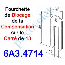 6A3.4714 Fourchette de Blocage sur l'Embout du Ressort de Compensation Monté sur Carré de 13