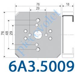 6A3.5009 Support Moteur Universel en C Ls 40 LT 50 etc. sur Modulo, Lucobay, Cvr, Starbox, Schuco  Sans Visserie