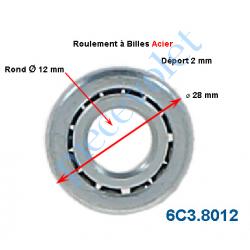6C3.8012 Roulement à Billes Acier Noyau Acier ø Int 12 mm - ø Ext 28 mm Déport 2 mm