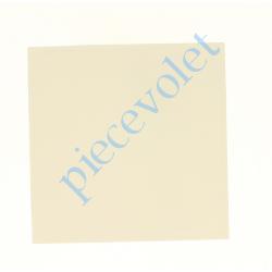 6D4.3001/20 Embout de Coffre Modulo Alu de 125 Pan Droit en Abs Coloris Blanc