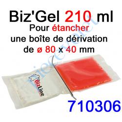 710306 Biz Gel d'Etanchéité Electrique Constitué de 2 Pochettes de 105 ml à Mélanger pour remplir une boîte de dérivation ø 80 x