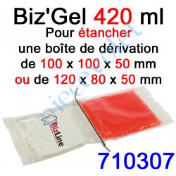 710307 Biz Gel d'Etanchéité Electrique Constitué de 2 Pochettes de 210 ml à Mélanger pour remplir une boîte de dérivation 100x10