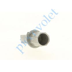 720R015Q10 Pivot Octogonal de 15 Mâle Percé ø 12 mm Femelle - Carré de 10 mm Mâle