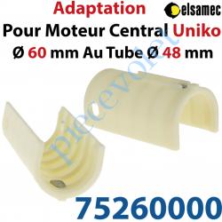 75260000 Kit d'Adaptation pour Moteur Central Elsamec Uniko Diamètre 60 mm au Tube Diamètre 48 mm