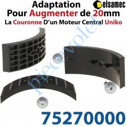 75270000 Kit d'Adaptation pour Augmenter de 20 mm le diamètre de la Couronne d'un Moteur Central Elsamec Uniko