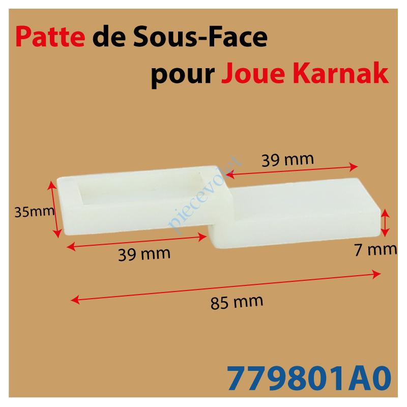 779801A0 Patte de 85 x 35 mm pour Sous-Face de Joue Karnak