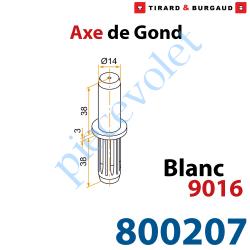 800207 Axe de Gond en Polyamide Avec Insert en Acier pour Gond en Aluminium ø 14 mm Coloris Blanc ± Ral 9016