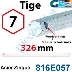 816E057 Tige Hexa 7 mm Lg 326 mm