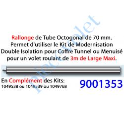 9001353 Tube d'Adaptation pour Porte-Fenêtre de 2,50 à 3,00 m pour Kit de Modernisation Double Isolation