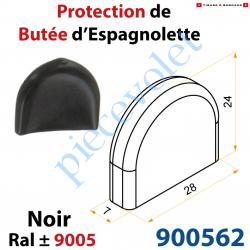 900562 Protection de Butée d'Espagnolette Standard Noir ± Ral 9005