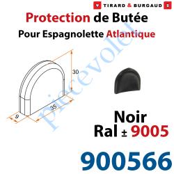 900566 Protection de Butée d'Espagnolette Atlantique Noir ± Ral 9005