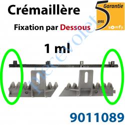 9011089 Crémaillère Nylon Armé Fixation par le Dessous (1 ml)