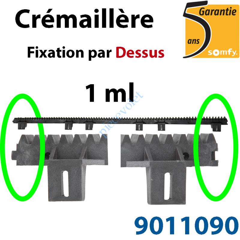 9011090 Crémaillère Nylon Armé  Fixation par le Dessus(1 ml)