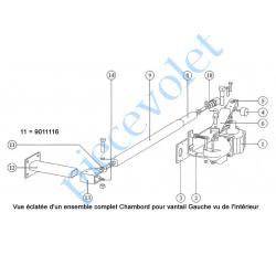 9011116 Tête de Genouillère Rotule Femelle