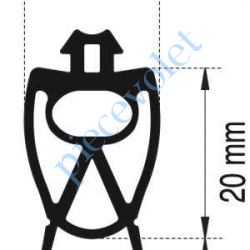 9013451 Profil Caoutchouc de Barre Palpeuse, le mètre