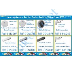 gris somfy SOMFY 9013809 capteur eolis 3d wirefree rts
