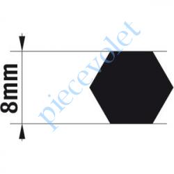 9014165 Adaptateur d'Axe Hexagonal de 8 mm pour Moteur de Bso J4