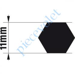 9014168 Adaptateur d'Axe Hexagonal de 11 mm pour Moteur de Bso J4