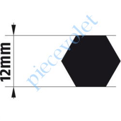 9014169 Adaptateur d'Axe Hexagonal de 12 mm pour Moteur de Bso J4