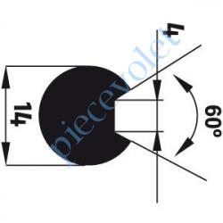 9014171 Adaptateur d'Axe ø 14 mm Rainuré Fond Plat 4 mm à 60° pour Moteur de Bso J4