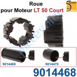 9014468 Roue pr Moteur LT 50 Court s'adapte dans Embout Court pour Tube Zf 54 ou Octo 60