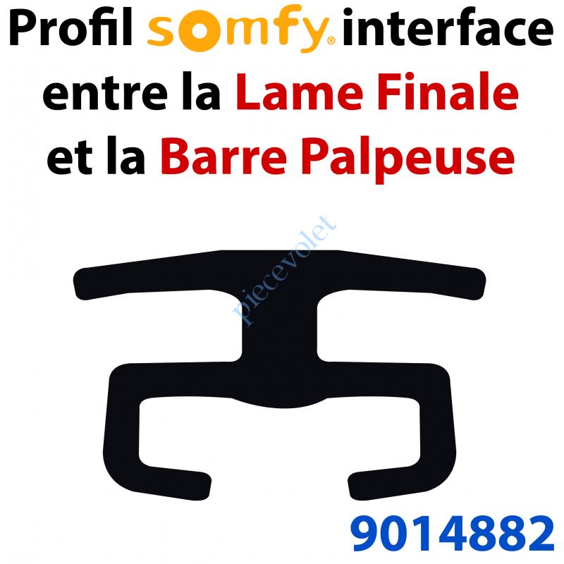 9014882 Rail Plastique Noir Interface Lame Finale & Barre Palpeuse Résistive 16x27,3 mm Barre de 3 mètres
