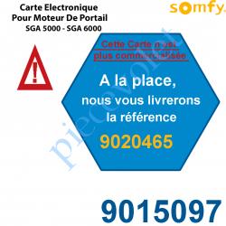 9015097 Carte Electronique Bus Rts pour Moteur de Portail Ouvrant à la Française Somfy SGA 5000 ou SGA 6000 (Remplacé par la REF