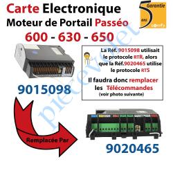 9015098 Carte Electronique pour Moteur de Portail Passeo 600-630-650 remplacée par Réf 9020465