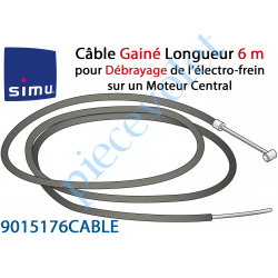 9015176CABLE Câble Gainé Longueur 6 m pour Débrayage de l'Electro-frein sur Moteur Central