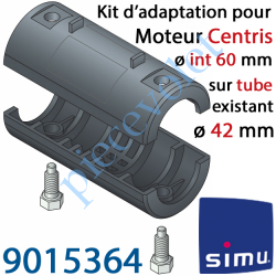 9015364 Kit d'Adaptation pour Moteur Central Simu Centris ø 60 mm au Tube ø 42 mm