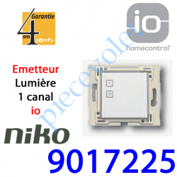 9017225 Emetteur Niko d'Eclairage io 1 Canal Blanc Sans Cadre