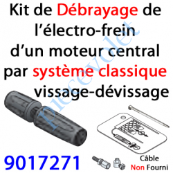 9017271 Kit de Débrayage Classique à Visser-Dévisser Sans Câble pour Moteur Central
