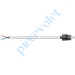 9018832 Câble H05VVF Blanc 2 x 0.75 mm² lg 1,00 m Avec Prise Clipable Exclusiment pour Moteur Somfy RS 100 io