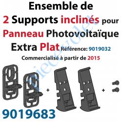 9019683 Support Incliné pour Fixation du Panneau Photovoltaïque Solaire AutoSun Extra Plat Modèle 2015