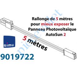 9019722 Rallonge de Câble de 5 mètres pour éloigner le Panneau photovoltaïque de l'ensemble Moteur-Batterie