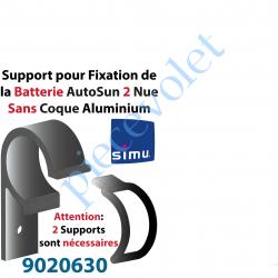 9020630 Support pour Fixation de la Batterie AutoSun 2 Nue Sans Coque en Aluminium