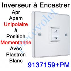 9137159+PM Inverseur Apr-Apem Unipolaire à Position Momentanée avec Plaque pour Encastrer