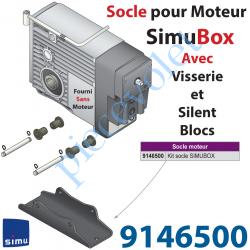 9146500 Socle pour Fixer Simubox livré Avec 2 Axes 4 Circlips et 4 SilentBloc