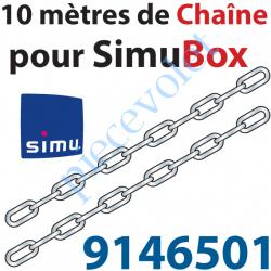 9146501 Kit de 10 m de Chaîne Maillons Spéciaux pour Simubox