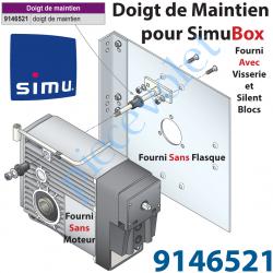 9146521 Doigt de Maintien pour Simubox Avec SilentBloc & Visserie