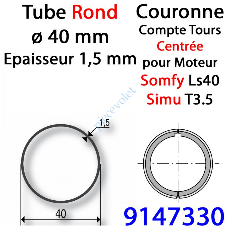 9147330 Couronne pour Moteur LS 40 ou T 3.5 dans Tube ø 40 x 1,5