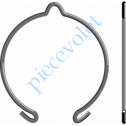 9206033 Anneau d'Arrêt Simple en Acier Ressort ø 2mm Revêtu Benzinal pour support LT 50 & 60