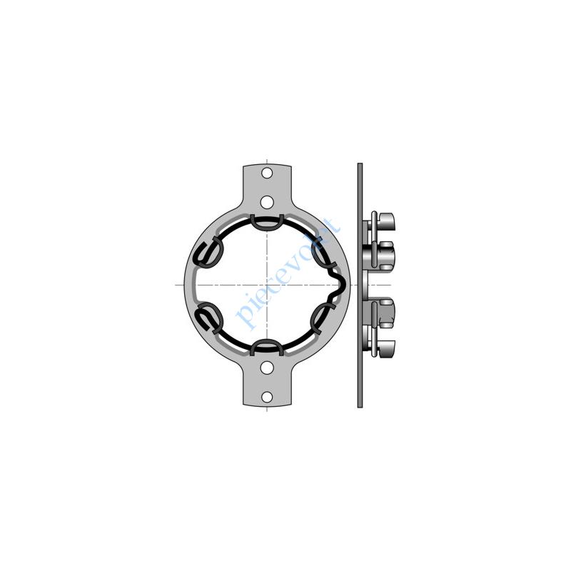 9410707 Support Métallique entr'axes 102 & 75 mm ø 5,2 & 6,3 Moteur LT 50 Cpl Maxi 50 Nm